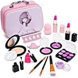 Pickwoo Pretend Makeup for Girls Kids Makeup Kit for Girls with Beauty Cosmetic Case, Not Real Makeup Kit Great Gift Ideal for Kids Brithday, Christmas, Holiday, Play Makeup for Toddlers