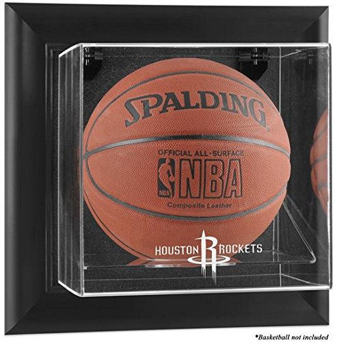%29 OFF! NBA Wall Mounted Basketball Display Case Frame Finish: Black, NBA Team: Houston Rockets