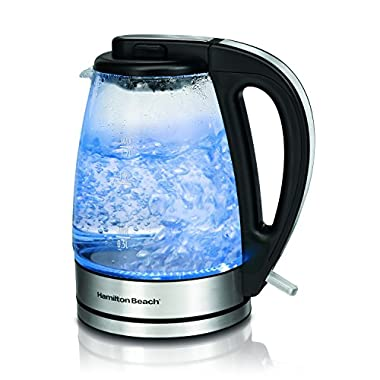 Hamilton Beach 40865 Glass Electric Kettle, 1.7-Liter