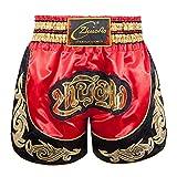 Sunnyushine Pantalones cortos de boxeo Muay Thai Kick Boxing Short Kickboxing Artes Marciales Boxeo Muay Thai Cage Pants Contact Gear