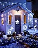 Litogo Luci LED Batteria, Catena Luminosa 5m 50 LED Fairy Light Filo Rame Ghirlanda Luminosa Lucine LED Decorative Waterproof per Camere da Letto Giardino Casa Feste Natale Matrimonio (Bianco freddo)