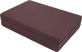 アイリスプラザ マットレス シングル 三つ折り 厚さ6cm ブラウン シングル 90N