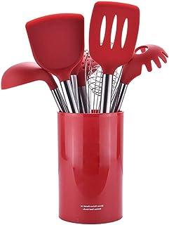 Naisidier Que Cocina Utensilios Herramientas Conjunto De Silicona No Arañazos De Cocina Antiadherente para Cocina De La Cacerola Ware 1ponga Rojo