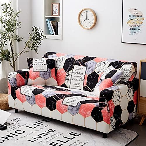 WXQY Wohnzimmer Elastischer Sofabezug Elasthan Sofabezug All-Inclusive Elastischer Antirutschbezug Sofabezug Couchbezug A7 2 Sitzer