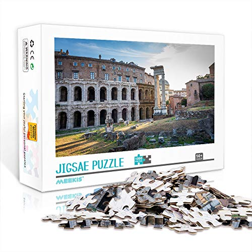 YITUOMO Colosseum historisches Denkmal 1000 Stück Puzzles für Erwachsene Puzzles Holzstücke Spiel Artwork Puzzles DIY Geschenke für Erwachsene Teenager Kinder Familien
