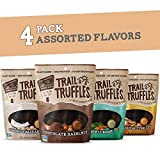 TRAIL TRUFFLES – Dark Chocolate Nut-Butter Filled Protein Bites – Healthy, Plant Based, Gluten Free, Dairy Free, Soy Free, Non-GMO Snacks (Assorted Flavors, 4 Pack)