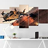ADGN 5 Piece Canvas Wall Art for Living Room Poster Game Star War Citizen - Aegis Gladius Battleship HD Printing Modern Home Decor Stretched and Framed Ready to Hang
