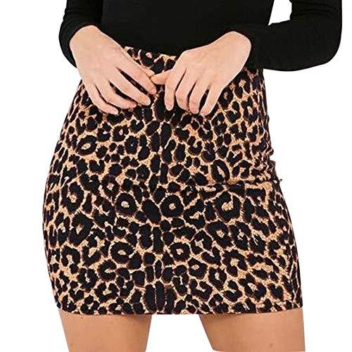 STRIR Vestido Mujer Mini Vestido Casual Leopardo Inglaterra