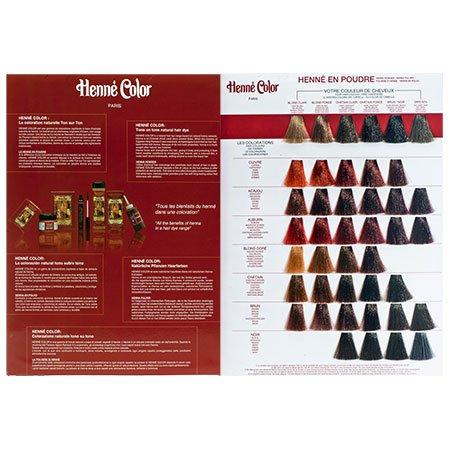Henné Color Farbkarte Henna-Pulver