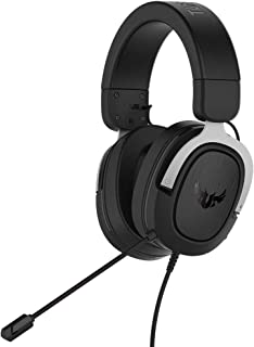 ASUS TUF Gaming H3 gaming headset for PC, PS4, Xbox One and Nintendo Switch, featuring 7.1 surround sound, deep bass, ligh...