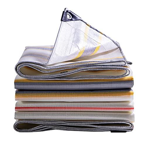 SOME Lona Impermeable, Lona Impermeable Exterior Resistente Los Rayos UV, Lona Impermeable Lona de Protección de Alquitranada, para Barco, Muebles de Jardín, Cámping, Leña