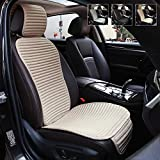 Car Seat Covers,Suninbox Universal Car Seat Covers Pads Mat,Buckwheat Hull Bottom Seat Covers for Cars,Cooling Seat Covers Breathable Comfortable Ventilated (Beige Front Seat)