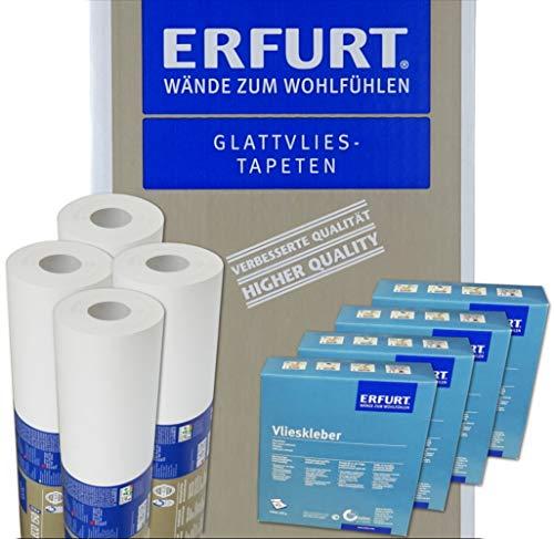 Wacolit-Set 8 Rollen 150m² Erfurt Variovlies ECO 150 inkl. 8x Vlieskleber Ecovlies Glattvlies Renoviervlies