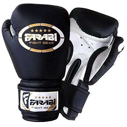 Farabi Sports - 4 OZ Guantes de boxeo para niños Age años 3-8 año , color negro