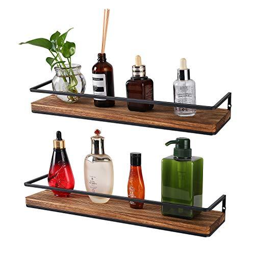 Industrial Pipe Shelf Bookcase Shelf Shelves Retro Floating Wood Shelving (36'')