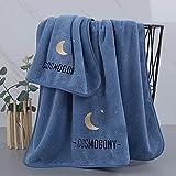 MQQM 2 Toallas de baño,Juego de Toallas Suaves, Toalla de baño de Pareja para el hogar-Azul_Toalla de baño,Toallas para Hoteles