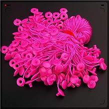 DFSM 100pcs/lot garment hang tag string 7 inches paper tag rope black white hang tag string cord (Color : Rose)