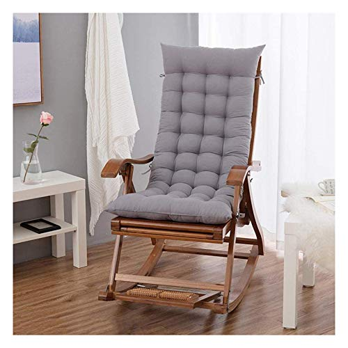 Swing Chair Cushion,Garden Patio Thick Chair Sun Lounger Cushion Wooden Lounger Soft Pads Outdoor Chairs Lounge Seat Relaxer Cushion,Gray