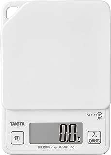 タニタ(TANITA) クッキングスケール(デジタルタイプ) ホワイト ココナッツ KJ-114WH