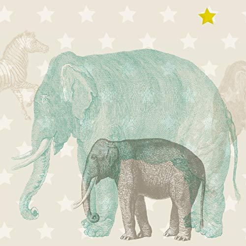anna wand Maxi-Bordüre selbstklebend African Animals - Wandbordüre Kinderzimmer/Babyzimmer mit Afrika-Tieren in versch. Farben - Wandtattoo...