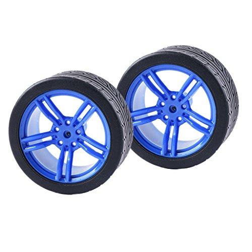 Sharplace 2Stück Rad Räder Tire Reifen Autoreifen Gummireifen aus Kunststoff für RC Autos - # 2