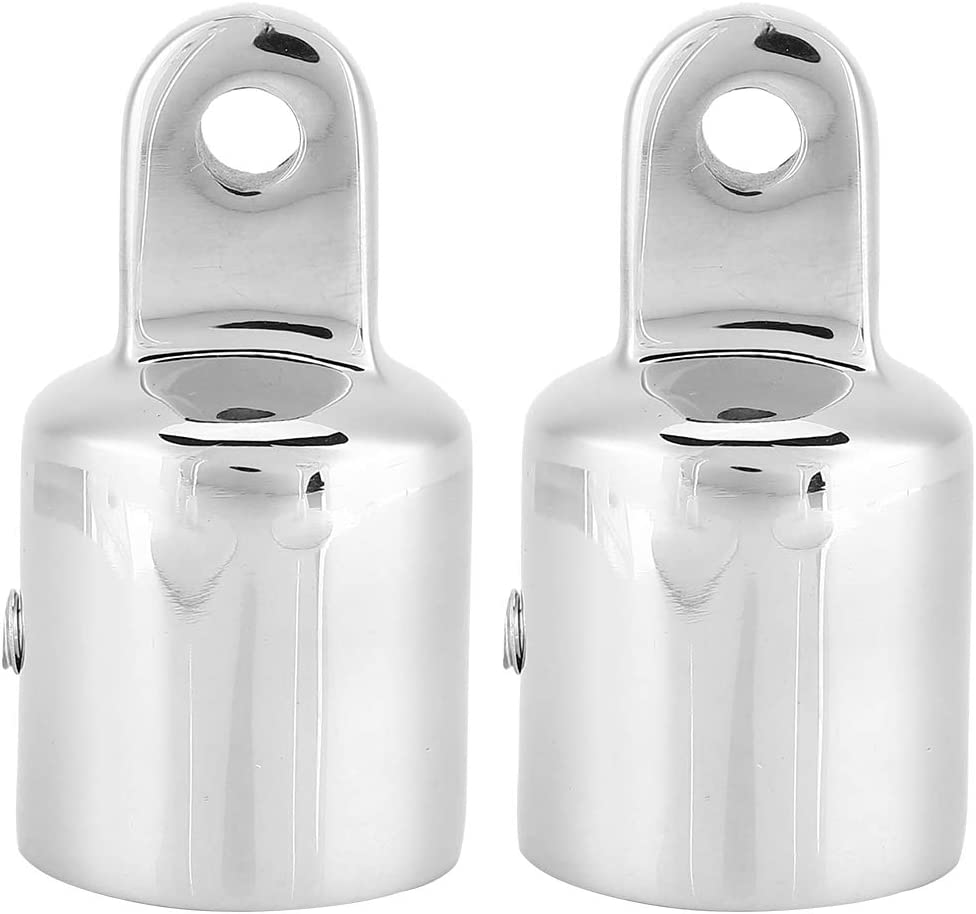 Ueohitsct 2pcs Stainless Steel Overseas parallel import regular item Brand Cheap Sale Venue Eye End Bimini Boat Conne for Top