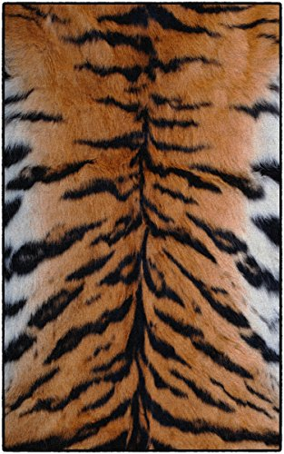 Brumlow MILLS Animal Stripes Print Area Rug for Living Room, Dining Room, Kitchen, Bedroom and Contemporary Home Décor, 5' x 8', Tiger