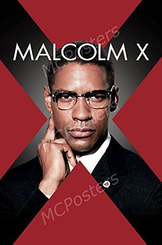 MCPosters Malcom X Denzel Washington GLOSSY FINISH Movie Poster - MCP412 (24' x 36' (61cm x 91.5cm))