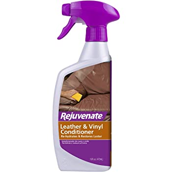 Rejuvenate High Performance Leather & Vinyl Conditioner Perfect for Auto Furniture Shoes Bags Coats and More Rehydrate Restore and Protection with No Greasy Residue