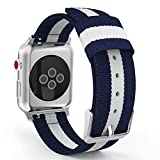 MoKo Bracelet pour Apple Watch Series 5/4/3/2/1 42mm, Bande Sportive de Remplacement...