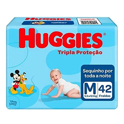 Fralda Huggies Tripla Proteção M Mega - 42 Unidades, Huggies