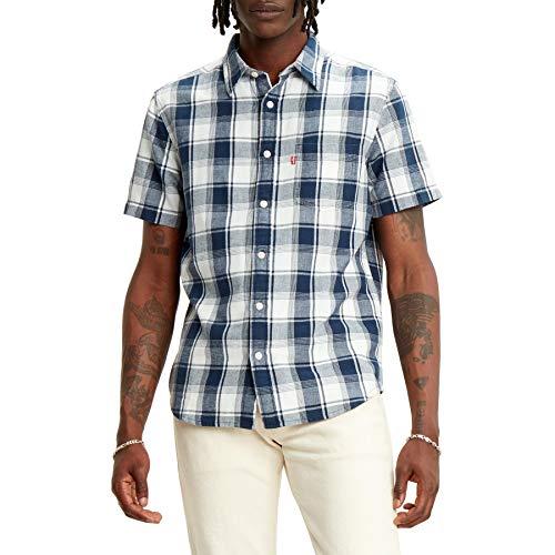 Levi's SS Classic 1 Pkt Standrd, Camisa Hombre, Blue (Alonzo Dress Blues 0011), M