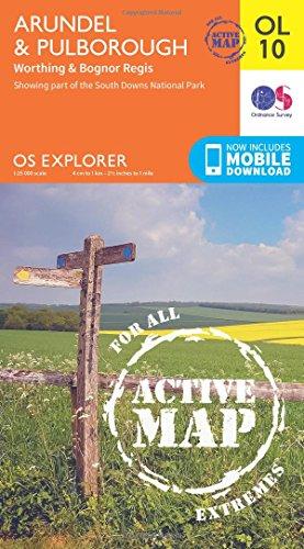 OS Explorer ACTIVE OL10 Arundel Pulborough OS Explorer Map Active