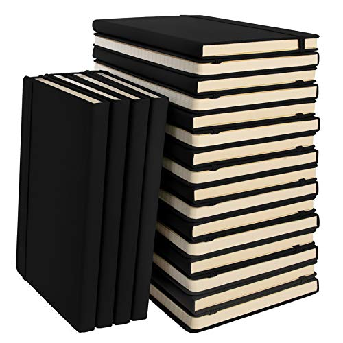 "Simply Genius (20 Pack) A5 Hardcover Leatherette Journals to Write in for Women, Faux Leather Journal for Men, Writing Journal Notebook Lined, 192pg Ruled, 5.7"" x 8.4"""