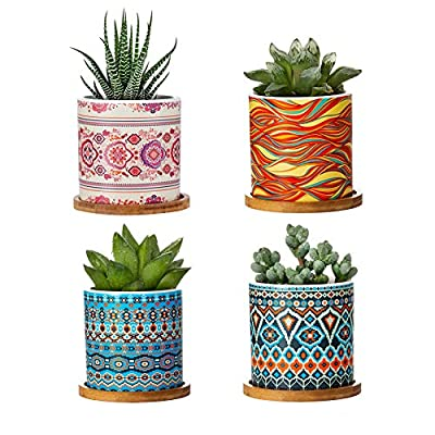 Succulent Pots - 3 Inch Cylindrical Bohemian Ma...