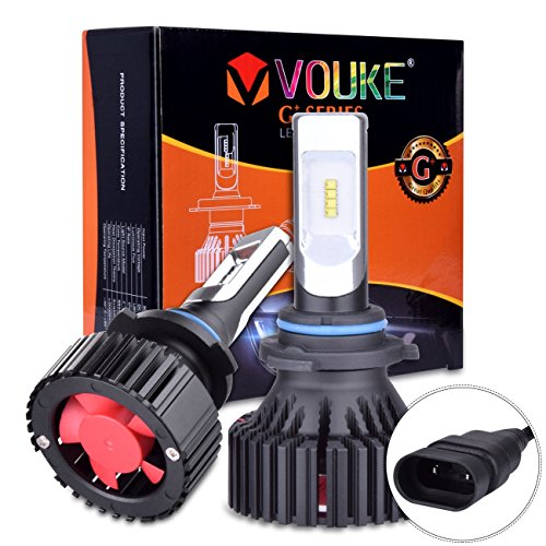 Vouke G+ 9006 HB4 9006XS Low Beam headlamp Fog Light 8000 LM with Extremely Bright Phi ZES AEC Chips All-in-One LED Headlight Conversion Kit Halogen Head Light Replacement 6500K White