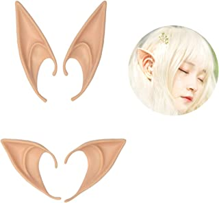 2 Pairs Latex Elf Ear Pixie Fairy Goblin Ears Costume Cosplay Halloween Party Props