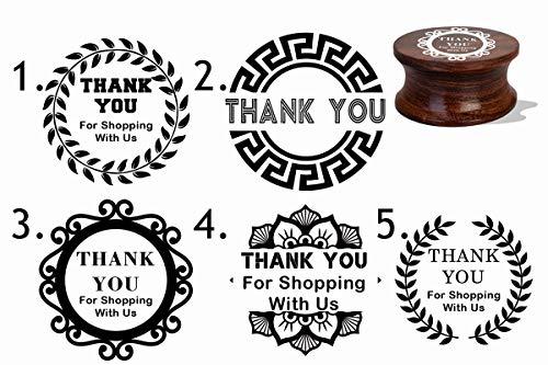 IMPACT2PRINT Thank You - Sello personalizado de goma montado en madera y acrílico, ideal para regalo