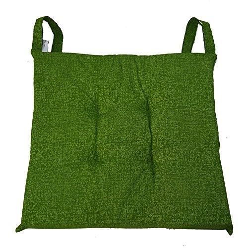 Set 6 cuscini Verdi,trapuntati al centro 40x40 spessore 5 cm, copri sedia cucina, Euronovità