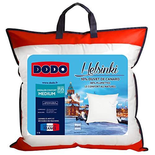 Dodo Kopfkissen6449065 Helsinki, Außenmaterial aus Baumwollperkal, Füllung aus Entendaunen/-Federn, 65cm65cm, Weiß
