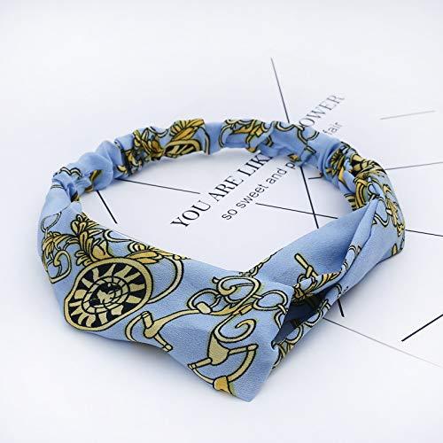 Stirnband Frauen Stirnband Vintage Kreuzknoten Elastische Haarbänder Weiches Festes Haarband Mädchen Haarschmuck Blumenturban