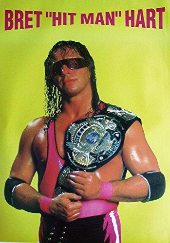 Poster Bret Hitman Hart WWF Wrestling Format 64 x 86 cm Original von 1994
