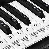 NATUCE Klavier Aufkleber für 37/49/54/61/88 Tasten, Klaviertasten Aufkleber, Klavier Keyboard Noten Aufkleber, Transparent Entfernbar, Premium Piano Keyboard Aufkleber Komplettsatz (B)