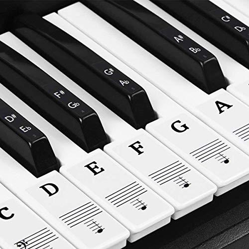 Dokpav Piano Pegatinas para 37/49/54/61/88 Teclas