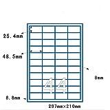 Joyeee 100 fogli A4 con 44 etichette per foglio, 48,5 x 25,4 mm etichette multifunzione, E...