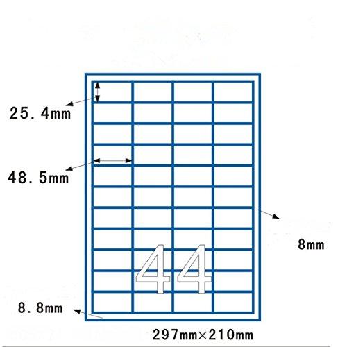 LaceDaisy Autoadhesivas A4 Amazon FBA etiquetas de código de barras (100 hojas, 4400 etiquetas) 48.5 x 25.4 mm Compatible con Inkjet & Láser Jet Impresoras