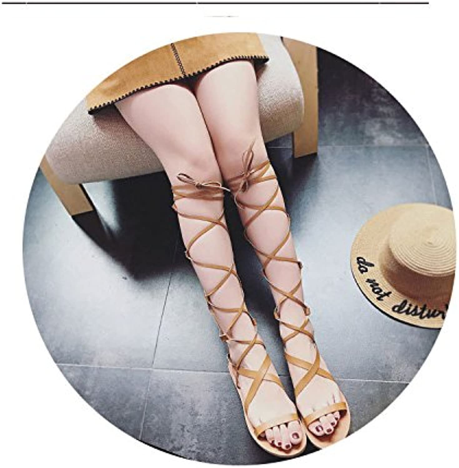 Ladies Cool Boots, Ladies Sandals, 2018 Summer Dew Toes, Flat and Long Women's shoes.