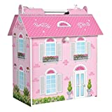 Casa de muñecas Madera rosa Play & Learn - COLORBABY