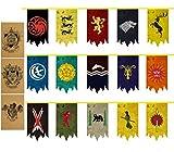 ZCWOLTM Fiesta de cumpleaños Canción de Hielo y Fuego Poster Juego de Tronos Bandera Game of Throne Banner