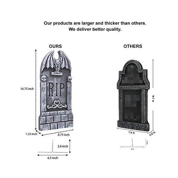 JOYIN 43 cm 5 Decorazioni di Halloween RIP in Pietre Tombali Cimitero in Schiuma e 12 Puntali in Metallo Bonus per Decorazioni in Cortile 2 spesavip